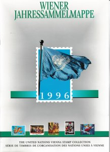 United Nations Vienna 193-195 205-211 Year Book stamps with mounts MNH 1996