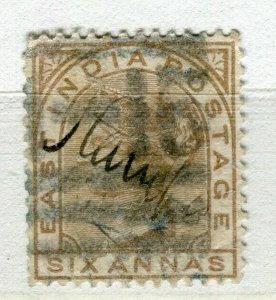 INDIA; 1880s classic QV issue fine used + Fiscal cancel 6a. value