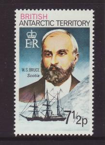 1973 Br Antarctic Terr 7½p W.S. Bruce U/M