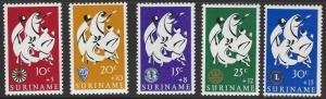 Suriname #B122-B126 MNH Full Set of 5