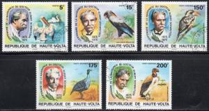 Upper Volta 368-69; C212-14 - Cto - Birds / A. Schweitzer (1975) (cv $2.85)