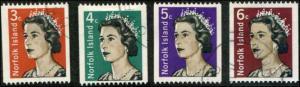Norfolk Island SC# 116-118A SG# 93-95a Queen Elizabeth COILS set used