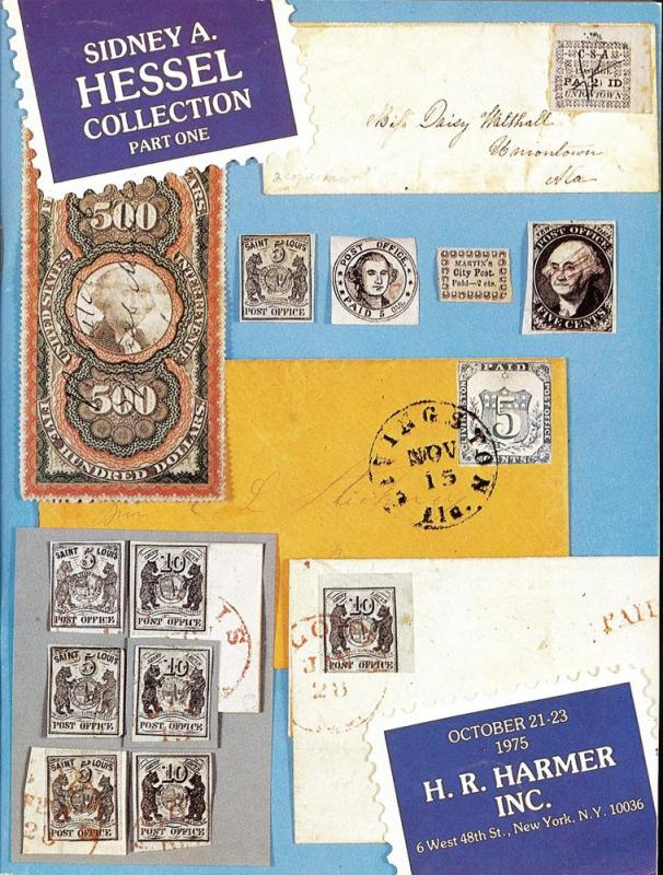 HR Harmer: Sale # 2291-2293  -  Sidney A. Hessel Collecti...