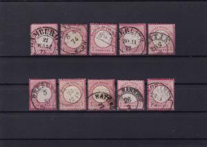 german empire 1872 used good postmark stamps cat £100+ ref r13973