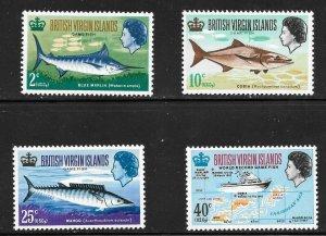 British Virgin Islands  (1968)  - Scott # 186 - 189, MNH
