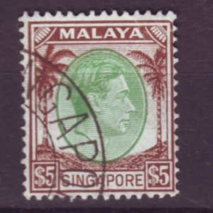 J22084 Jlstamps 1948 singapore used #20 perf 14 king