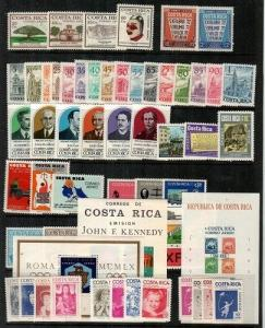 Costa Rica -small collection of NH sets and S/S (Catalog Value $40.50) [TC537]