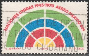 MEXICO C376, 25th Anniversary of the United Nations Org. USED (1274)