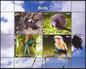 Burundi 2011 Birds (3) MNH Cinderella !