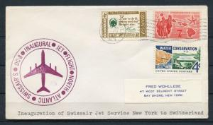 UNITED STATES MAY 31, 1960  FIRST FLIGHT COVER SWISS AIR JET NY TO SWITZERLAND