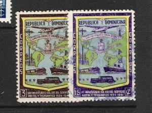 DOMINICAN REP. DOMINICANA 381-82 VFU 924D
