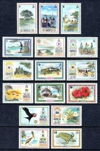 ANGUILLA —SCOTT 145-160 —1972-75 PICTORIAL SET — MH — SCV $69