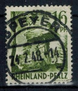 Germany - French Occupation - Rhine Palatinate - Scott 6N6