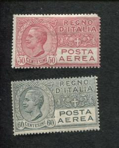 Set of 2 1928 Italy Air Mail Postage Stamps #C3-C4
