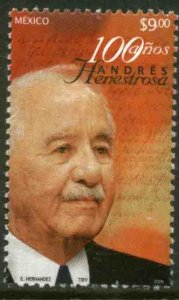 MEXICO 2533, ANDRES HENESTROSA, CENTENARY OF HIS BIRTH. MINT NH VF