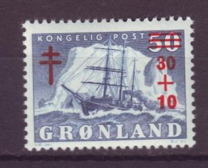 J16601 JLstamps 1958 greenland set of 1 mnh #b1 ship ovpt
