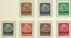 Luxembourg (German Occupied) Stamps Scott #N1-12 Used Short Set Missing N8 & ...