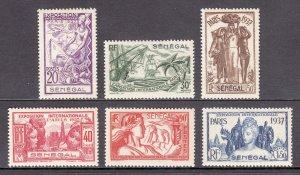 Senegal - Scott #172-177 - MNH - Toning, a few with glazed gum - SCV $11.20