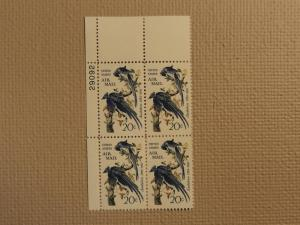 USPS Scott C71 20c Audubon Columbia Jays 1967 Mint NH Pla...