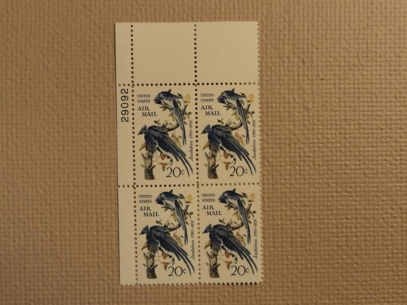 USPS Scott C71 20c Audubon Columbia Jays 1967 Mint NH Pla...