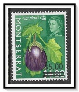 Montserrat #198 Fruits & Vegetables Surcharged MNH
