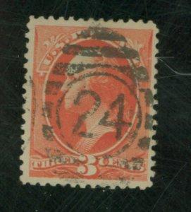 U.S. #214 Used F-VF Cat $50