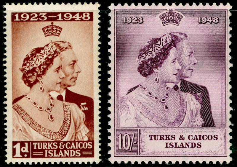 TURKS AND CAICOS ISLANDS SG208-209, COMPLETE SET, NH MINT. Cat £14. RSW.