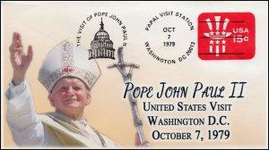 AO-U581, 1979, Pope John Paul II, Visit to US, Add-on Cover (2018), Washington D
