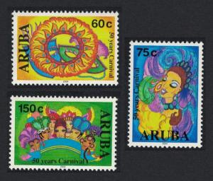 Aruba 50th Anniversary of Carnival 3v SG#334-336
