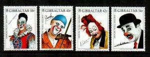 Gibraltar 2002  # Europa Clowns set MNH # 901-904