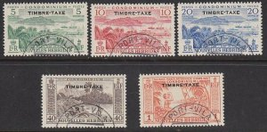 NEW HEBRIDES FRENCH 19953 Postage Due set fine used SG FD92-96 cat £170.....G631