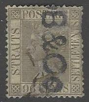 Straits Settlements #96 Used Queen Victoria (U2)
