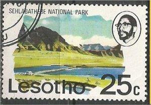 LESOTHO. 1976,used 25c Sehlabathebe National Park. Scott 205
