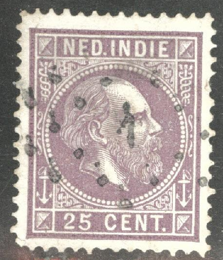 Netherlands Indies  Scott 13 used 1870 King William III