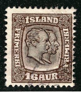 Iceland Attractive Sc#78 Used Fine SCV $47.50...Key bargain!!