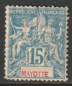 Mayotte 1892 Sc 7 MH DG