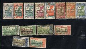 Iniini #1-8,10-13,15,17   Mint VF 1932-40 PD