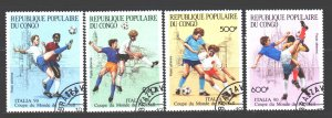Brazzaville. 1990. 1178-81. Italy 1990 soccer world cup. USED.