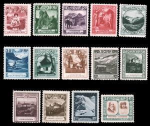 Liechtenstein 1930 SCENIC SET MINT #94-107 h.r overall CV$681.90 [193533]