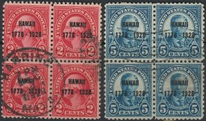 U.S. 647-48 Used FVF Blks/4 (22321)