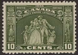 Canada #209 Mint 1934 10c Loyalists - Fresh & VF-NH Cat. $80.
