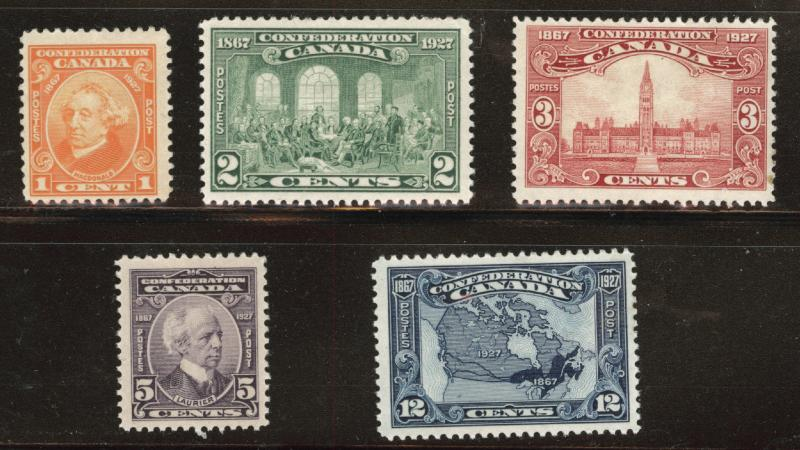 CANADA Scott 141-145 MH* 1927 Confederation set  CV$45