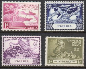 Nigeria Sc 75-78 1949 UPU Anniversary stamp set mint