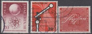 Germany #731, 734, 738 F-VF Used CV $6.35 (A6178)
