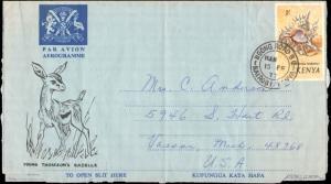 Kenya Uganda & Tanganyika, Marine Life, Air Letters
