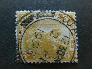 A4P60F186 Malaysia ederated States 1922-34 Wmk Mult Script CA 6c used