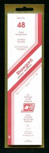 CLEAR Showgard Strip Mounts Size 48 = 48mm Fresh New Stock Unopened CLEAR