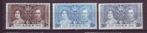 J20862 Jlstamps 1937 aden set mnh #13-5 coronation