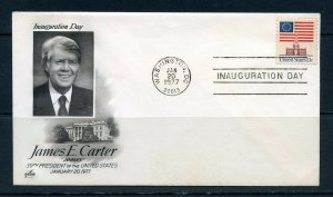 UNITED  STATES OFFICIAL 1977 ARTCRAFT JIMMY CARTER INAUGURAL  COVER