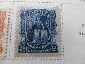 Honduras 1895 2c fine mh* stamp A11P11F21